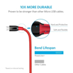 Picture of Anker Powerline+ , Micro USB 3ft - Red