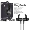 Picture of HyperGear , MagBuds Wireless Earphones - Jet Black