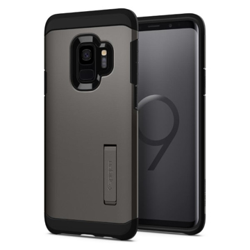 Picture of Spigen Tough Armor Case with Kickstand for Samsung Galaxy S9 - Gunmetal