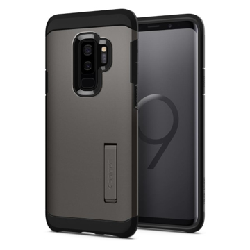 Picture of Spigen , Tough Armor Case with Kickstand for Samsung Galaxy S9 Plus - Gunmetal