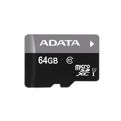صورة اداتا ، بطاقة ذاكرة مايكرو  SDHC/SDXC UHS-I U1 بسعة 64GB الفئة 10 مع محول