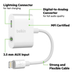 Picture of Belkin 3.5mm Audio + Charge RockStar Adapter  - White