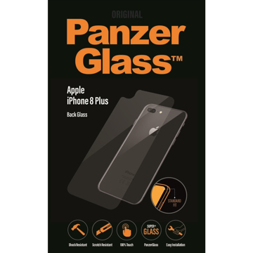 Picture of Panzer Glass Back Glass Protector For iPhone 8 Plus  - Clear