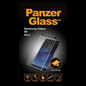 Picture of PanzerGlass Screen Protector, Case Friendly For Samsung S8 - Black