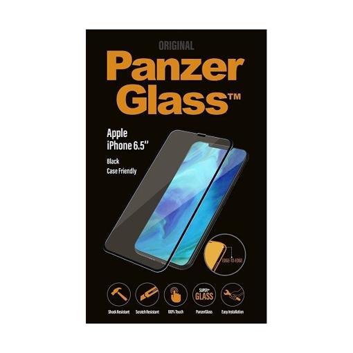 صورة بانزر جلاس ، واقي شاشة لأجهزة آيفون إكس إس ماكس - أسود