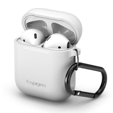 Picture of Spigen Silicone Case with Hook for AirPods - White