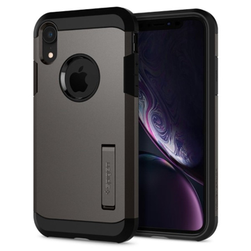 Picture of Spigen Tough Armor Case With KickStand For Apple iPhone XR  - Gunmetal