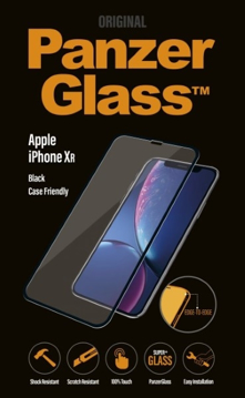 الصورة: بانزر جلاس ، حماية شاشة زجاجية ، متوافق مع الاغطية لأجهزة ايفون اكس ار  - اسود