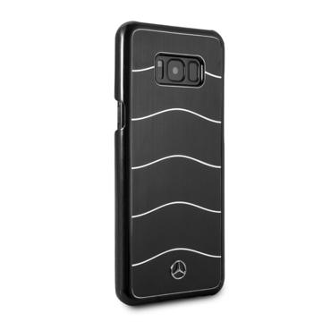 Picture of Mercedis Brushed Aluminium Back Case For Samsung S8 Plus - Black