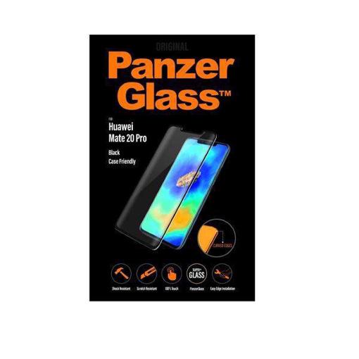 صورة بانزر جلاس ، حماية شاشة زجاجية ، متوافق مع الاغطية لأجهزة هواوي ميت 20 برو - اسود