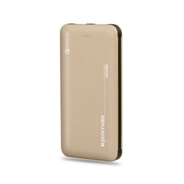 Picture of Promate Power Bank 18W PD 10000mAh With QC3.0 - Gold