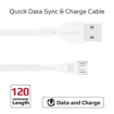Picture of Promate Durable Ultra-Fast Cable USB-A To Micro-USB Cable 1.2m - White