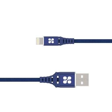 الصورة: بروميت كابل مقوى الترا سليم رفيع USB-A الى Lightning لاجهزة ابل بطول 1.2 متر - أزرق