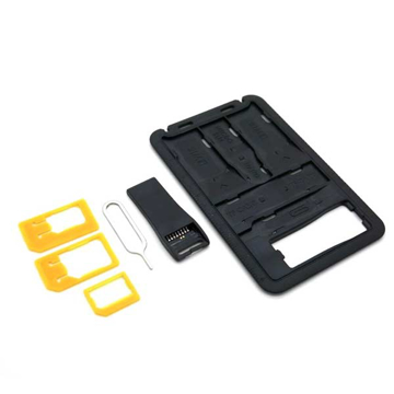 Picture of Promate 8-in-1 Sim Card Holder with Card Reader - Black