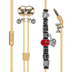 Picture of Promate Wearable Bracelet Style Wired Stereo Earphone Earphones - Gold