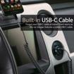 صورة بروميت شاحن سيارة مع كابل USB-C ملفوف بقوة 3.4 أمبير - اسود