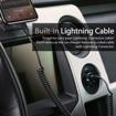 صورة بروميت شاحن سيارة مع كابل Lightning ملفوف بقوة 3.4 أمبير - اسود