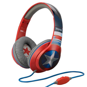 Picture of iHome Kiddesigns Over-Ear Headphone With Mic Captain America - Multi Color