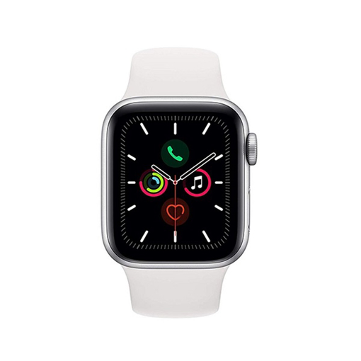 Picture of Apple Watch Series 5 GPS, Silver Aluminium Case With Sport Band, 44 millimeter - White