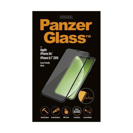 صورة بانزر جلاس حماية شاشة زجاجية 3D لاجهزة ابل iPhone 11  - اسود