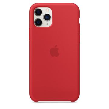الصورة: ابل غطاء حماية خلفي سيليكون لاجهزة ابل iPhone 11 Pro - احمر