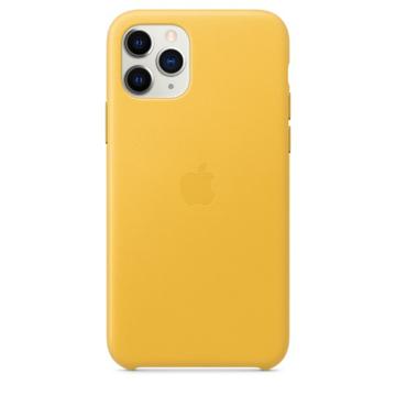 الصورة: ابل غطاء حماية خلفي جلد لاجهزة ابل iPhone 11 Pro  - اصفر