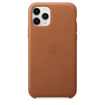 الصورة: ابل غطاء حماية خلفي جلد لاجهزة ابل iPhone 11 Pro  - بني