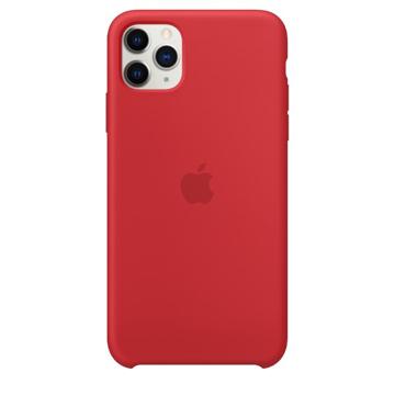 الصورة: ابل غطاء حماية خلفي سيليكون لاجهزة ابل iPhone 11 Pro Max- احمر