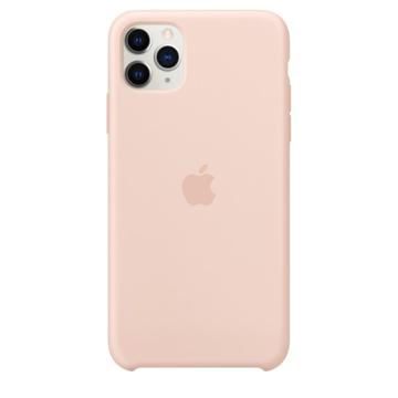 الصورة: ابل غطاء حماية خلفي سيليكون لاجهزة ابل iPhone 11 Pro Max- وردي