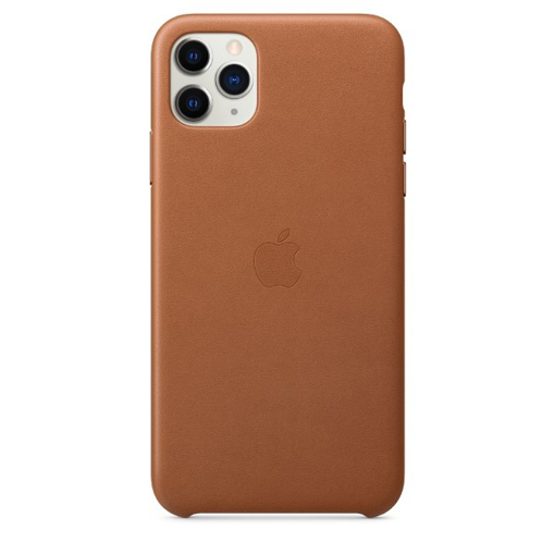 Picture of Apple iPhone 11 Pro Max Leather Case - Saddle Brown