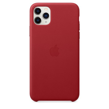 الصورة: ابل غطاء حماية خلفي جلد لاجهزة ابل iPhone 11 Pro Max - احمر