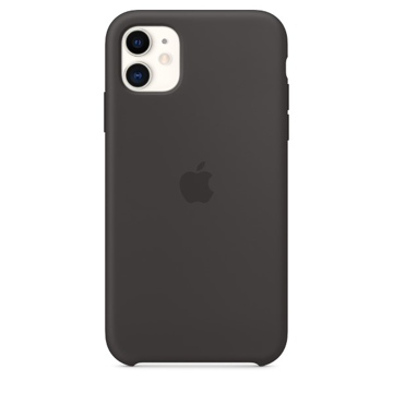الصورة: ابل غطاء حماية خلفي سيليكون لاجهزة ابل iPhone 11  - اسود