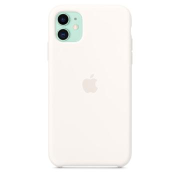 الصورة: ابل غطاء حماية خلفي سيليكون لاجهزة ابل iPhone 11  - ابيض