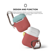 Picture of Elago Duo Hang Silicon Case For AirPods - Body-Italian Rose / Top-Coral Blue, Yellow