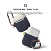 Picture of Elago Duo Hang Silicon Case For AirPods - Body-Jean Indigo / Top-Classic White, Yellow