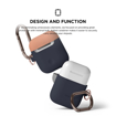 Picture of Elago Duo Hang Silicon Case For AirPods - Body-Jean indigo / Top-Peach, Grey