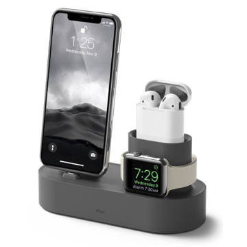 Picture of Elago Charging Hub 3-In-1 For iPhone, Airpods And Apple Watch - Dark Grey