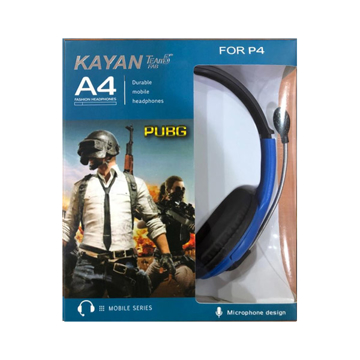 Picture of Kayan Headphone A4, Surround Gaming Headset Wired, Omnidirectional Microphone - Blue