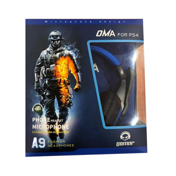 Picture of OMA Headphone A9, Surround Gaming Headset Wired, Omnidirectional Microphone - Blue