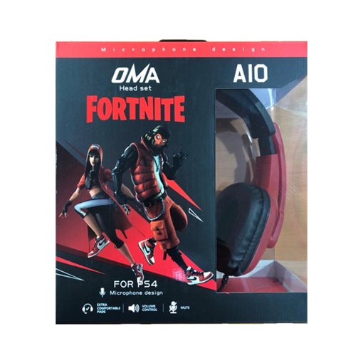 Picture of OMA Headphone A10, Surround Gaming Headset Wired, Omnidirectional Microphone - Red