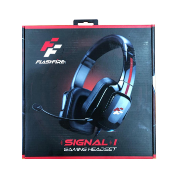 Picture of Flashfire Signal Headpfone HDM 1000, Surround Gaming Headset Wired, Omnidirectional Microphone - Red
