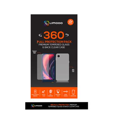 الصورة: ليمودو شاشة حماية زجاجية + غطاء حماية خلفي شفاف لاجهزة ابل ايفون 11 -  شفاف
