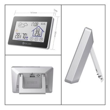 الصورة: جهاز قياس درجة حرارة الجو داخل وخارج المنزل
