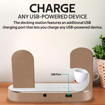 Picture of Promate Charging Dock Lightning 18W PD 10W Wireless Charger for AirPods & SmartPhones Apple Watch Charger - Gold