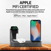 Picture of Promate Charging Dock Lightning 18W PD 10W Wireless Charger for AirPods & SmartPhones Apple Watch Charger - Grey