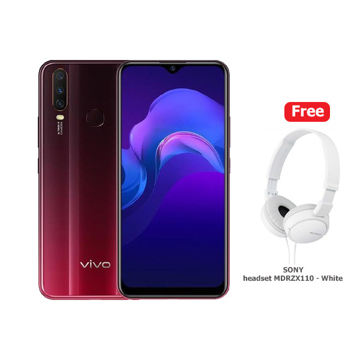 Picture of Vivo Y15 64GB, 4G - Burgundy Red