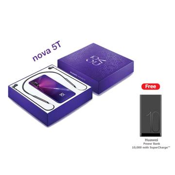 Picture of Huawei Nova 5T Dual 4G 128GB Bundle Free lace - Purple