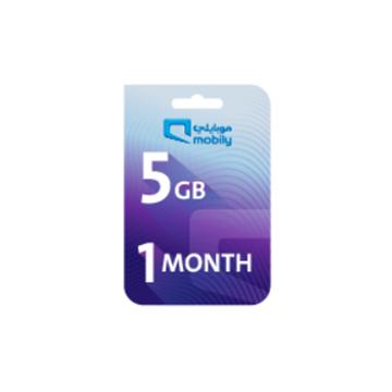 الصورة: موبايلي بطاقة إعادة شحن الإنترنت 5 جيجا لمدة شهر