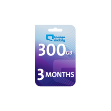 Picture of Mobily Data recharge 300 GB - 3 Months