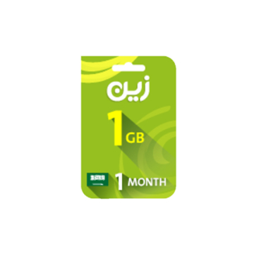 Picture of Zain Internet Recharge Card 1GB –1 month